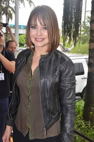 Gabriela Spanic em visita ao SBT este ano