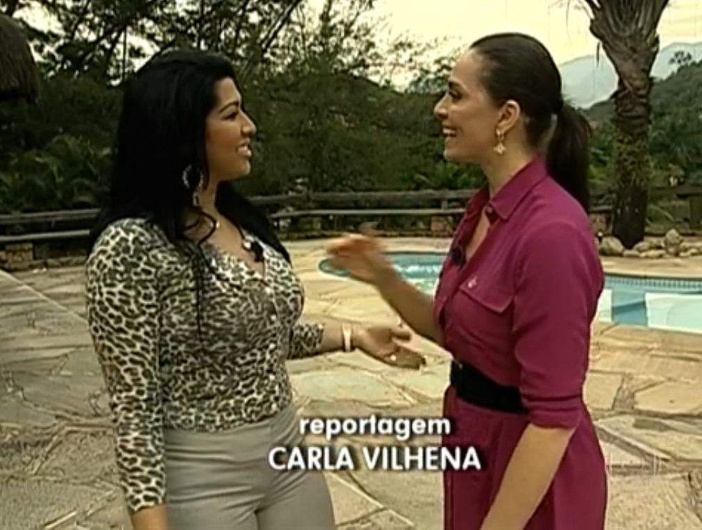 Vilhena (à dir) entrevistou Moranguinho