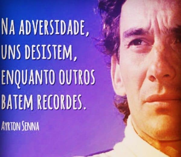 Adriane Galisteu publicou uma frase de Ayrton Senna