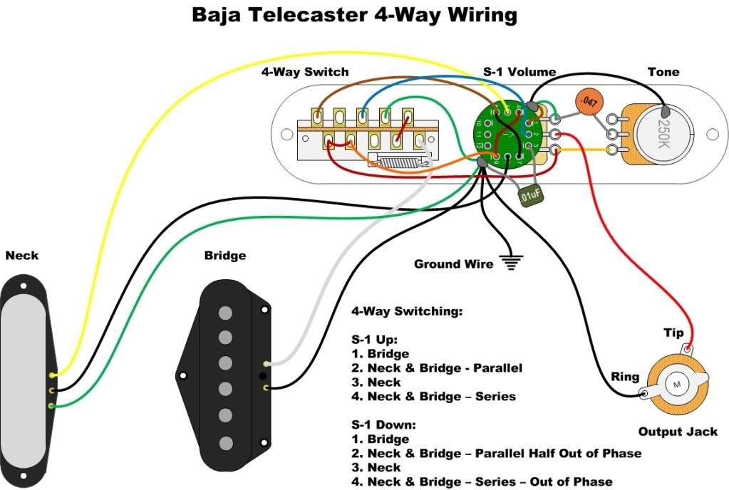 Baja Telecaster 4 Way Switch Mod
