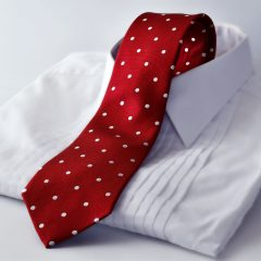Red polka dot necktie by RDB Royal - Pure luxury collection