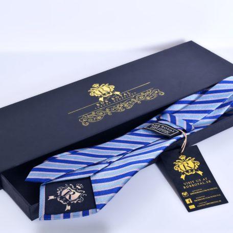 Elegant silk striped necktie PURE LUXURY COLLECTION