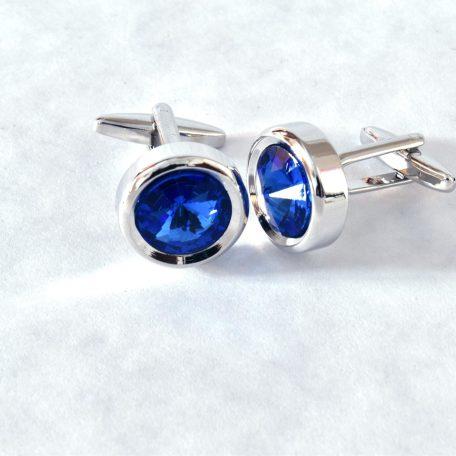 Manžetové gombíky RDB Royal s lesklým modrým kameňom