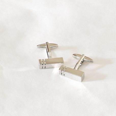 Elegantné pánske luxusné strieborné manžetové gombíky z chirurgickej ocele