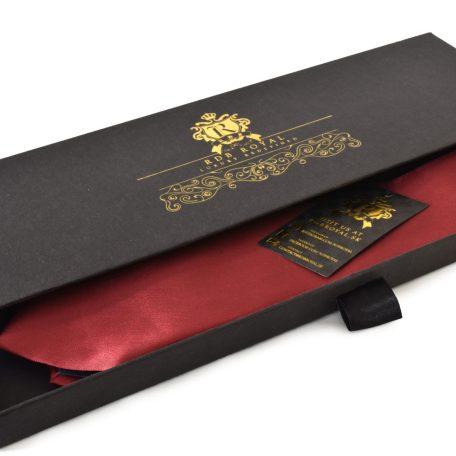 Burgundy Vínovo Červená jednofarebná kravata zo zamatovo jemného hodvábu