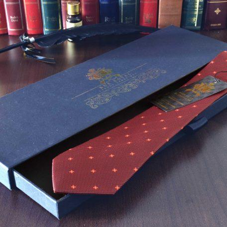Červená foulard hodvábna kravata