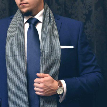 Elegantný pansky formalny hodvabny sal do obleku