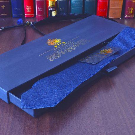 hodvábna modrá jednofarebná elegantná pánska kravata