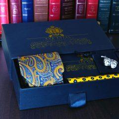 luxusný pánsky hodvábny elegantný pánsky darčekový set