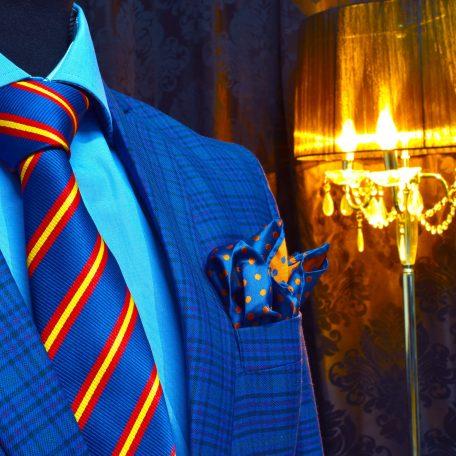 Hodvábny darčekový set modro-oranžový