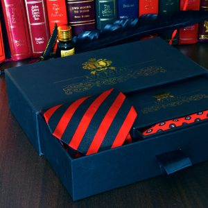 červený pánsky hodvábny darčekový oblekový set pásikavý paisley