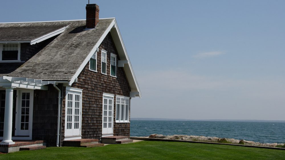 Cape Cod house on the water
