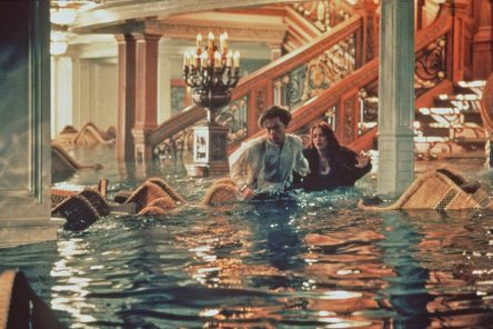Leonardo DiCaprio and Kate Winslet in James Cameron's 'Titanic.'