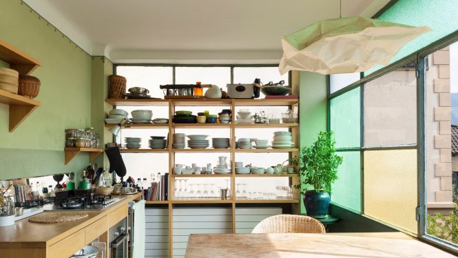 comfortable kitchen, interior of a nice loft