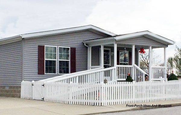 mobile home with front porch
