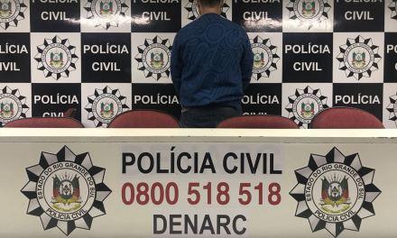 Polícia Civil captura chefe de organização criminosa em Santa Catarina