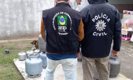 Polícia interdita estabelecimento que vendia gás no litoral do Rio Grande do Sul