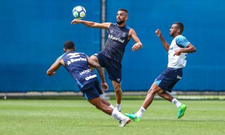 O time do Grêmio para o jogo contra o Palmeiras