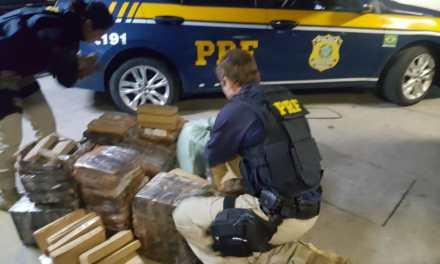 PRF apreende mais de 400 quilos de maconha na BR-290