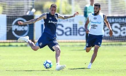 Luan voltou aos treinos no Grêmio