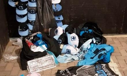 Polícia Civil apreende mercadorias falsificadas na frente da Arena do Grêmio durante show