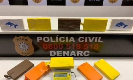 Polícia Civil apreende R$300 mil em cocaína