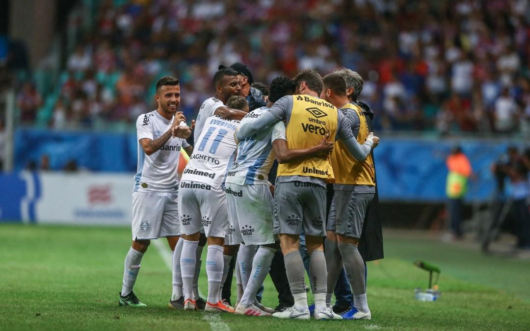 Grêmio vence o Bahia em Salvador e está classificado para a semifinal da Copa do Brasil