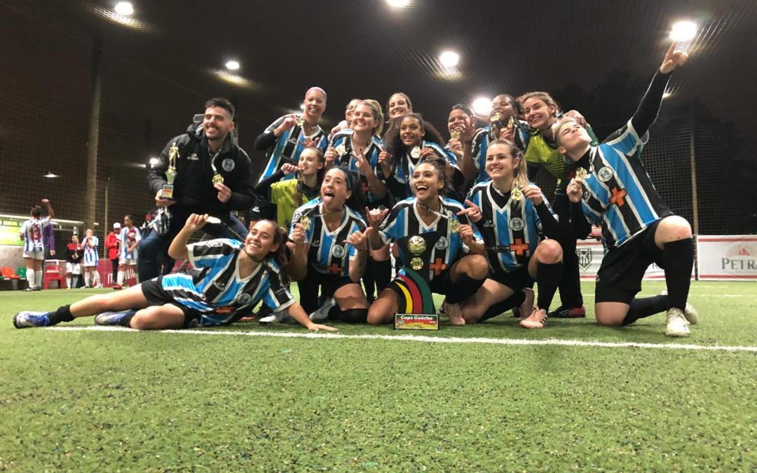 Gurias do Grêmio ganham Copa Gaúcho de Futebol 7