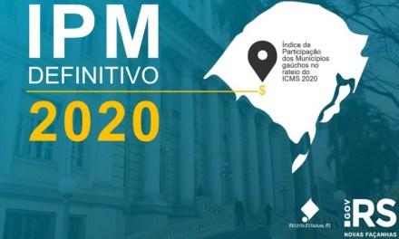 Secretaria da Fazenda divulga índices definitivos de rateio do ICMS para os municípios em 2020