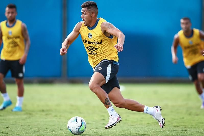 Grêmio faz mais uma atividade técnica visando o duelo com o Palmeiras
