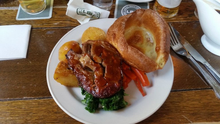 Roast dinner at The Old Red Cow, Farringdon