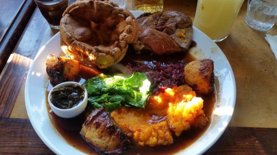 Roast dinner at The Selkirk, Tooting