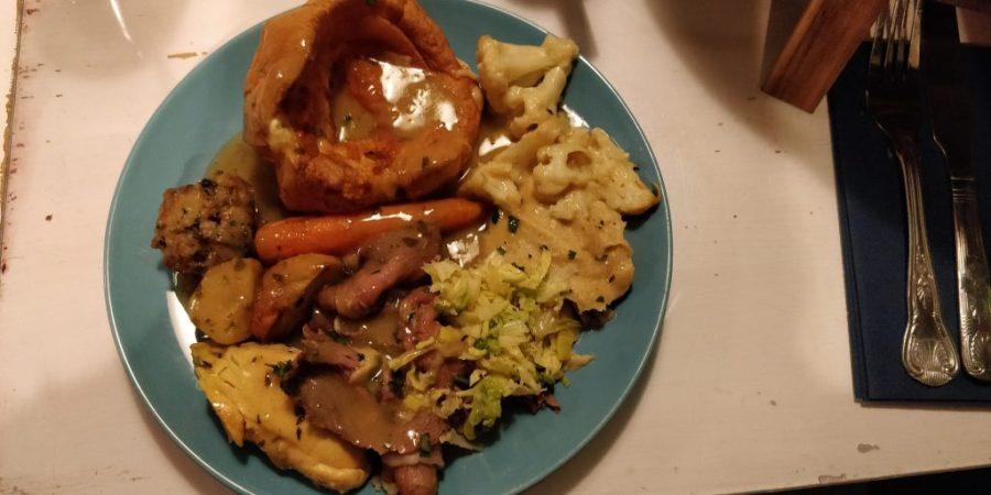 Roast dinner at The Little Blue Door, Fulham