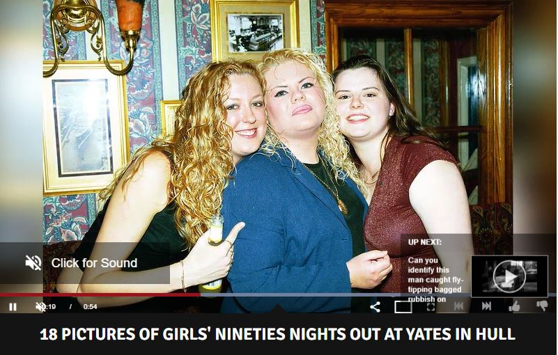 Girls in Yates in Hull in 1990s