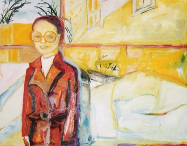 """A 70s Winter"" oil on linen, 39 x 57 inches, 2001"