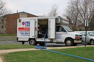 English: Pro Carpet truck mount steam carpet c...