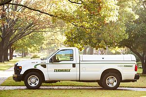 English: Terminix pest control truck outside a...
