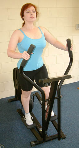 The cross trainer can be used to warm up muscl...