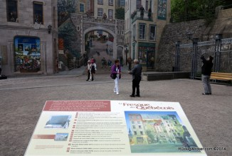 Another example of Québec's famous trompe l'oeil art