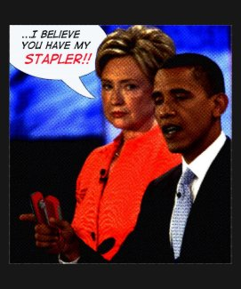 Obama has my stapler! shirt