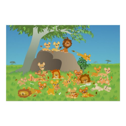 Cartoon Lion Pride custom print print