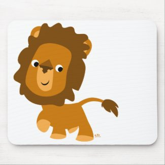 Cartoon Content Lion mousepad mousepad
