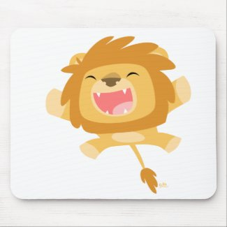 Cartoon Pouncing Lion mousepad mousepad