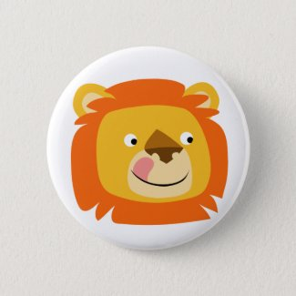 Yummy lion button badge button