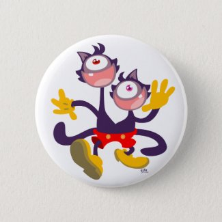 Monocular Cats in Tandem Walk button badge button