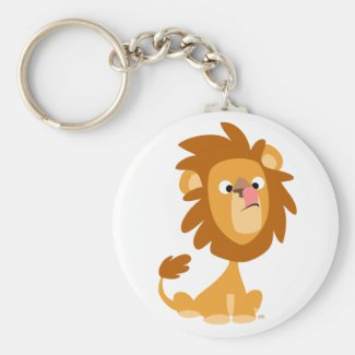 Silly Lion! cartoon keychain keychain