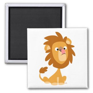 Silly Lion! cartoon magnet magnet