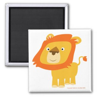 Cartoony lion magnet magnet