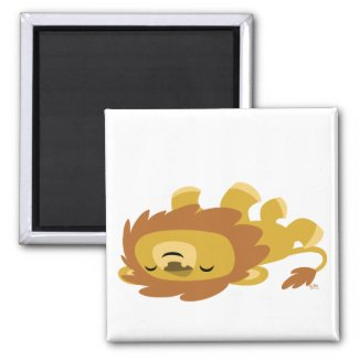 Cute Cartoon Lazy Lion magnet magnet