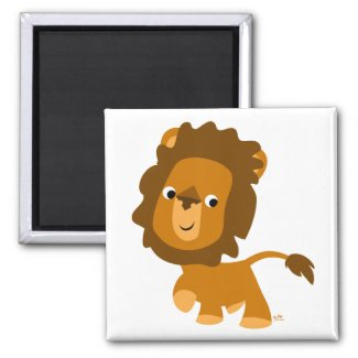 Cartoon Content Lion magnet magnet